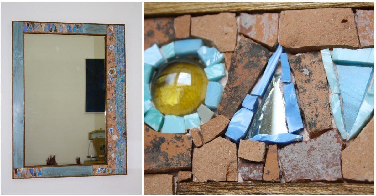 specchio artigianale in mosaico