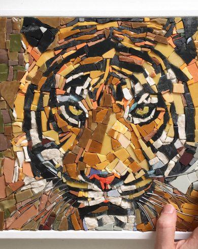 Tigre in mosaico - Creazioni artigianali in mosaico