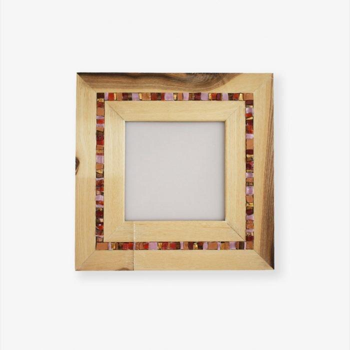 Portafoto in legno e mosaico